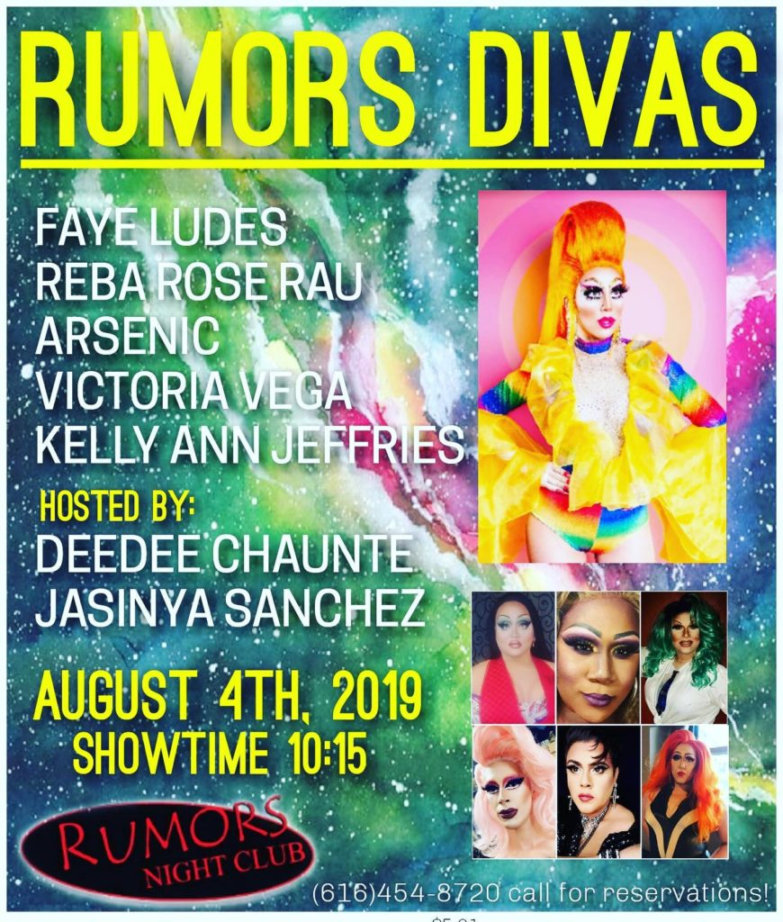 Ad | Rumors Night Club (Grand Rapids, Michigan) | 8/4/2019