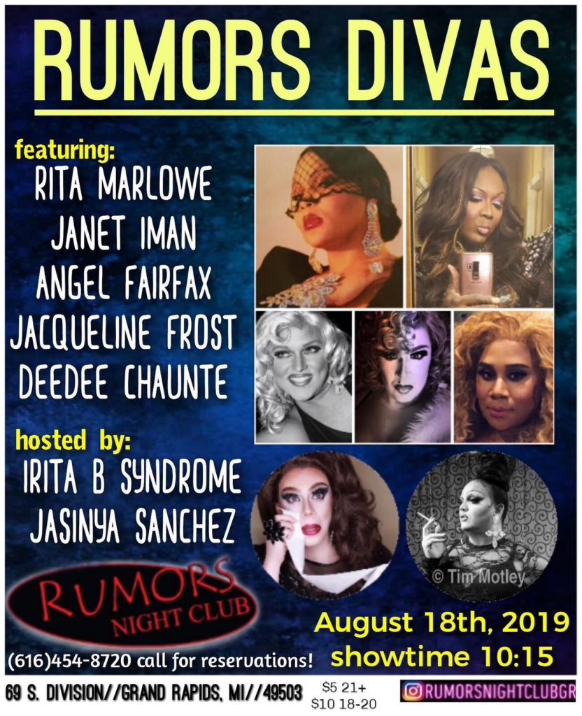 Ad | Rumors Night Club (Grand Rapids, Michigan) | 8/18/2019