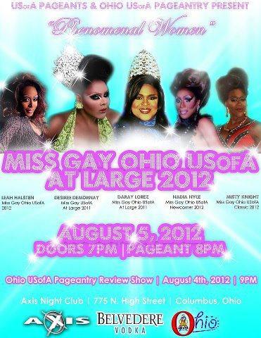 Miss Gay Ohio USofA at Large 2012
