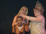Missy Marlo and Demanda Fortune crowning Bianca Bouvier as Miss Gay Capital City USofA @ Large 2003