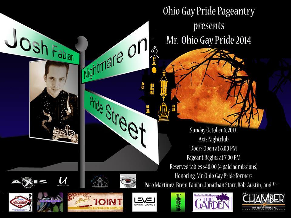 Mr. Ohio Gay Pride 2014 Show Ad