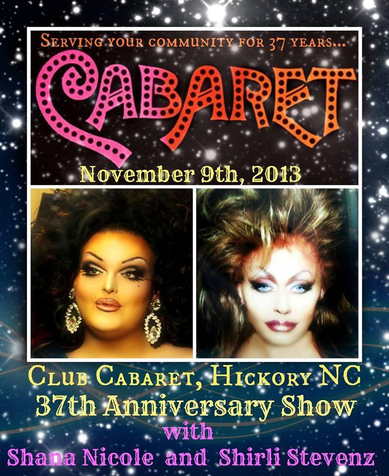 Show Ad | Club Cabaret (Hickory, North Carolina) | 11/9/2013