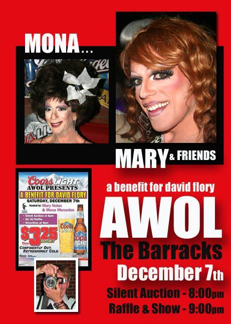 A Benefit for David Flory | AWOL The Barracks (Columbus, Ohio) | 12/7/2013