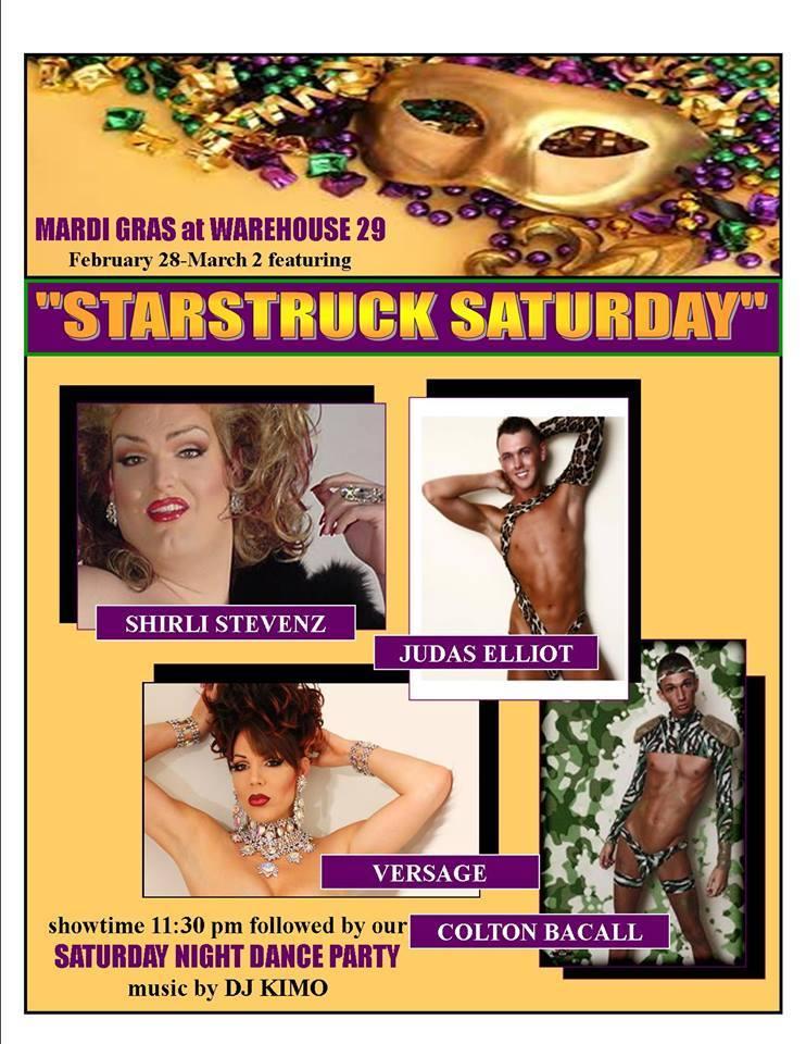 Mardi Gras at Warehouse 29 | Warehouse 29 (Greensboro, North Carolina) | February 28, 2014 - March 2, 2014
