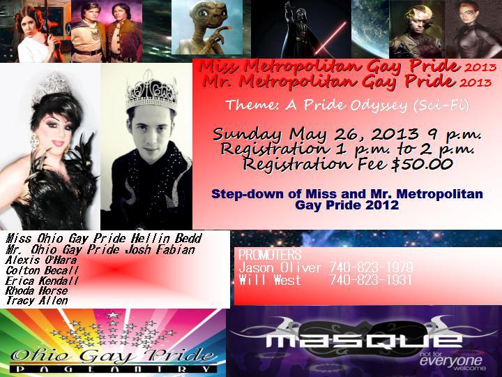 Mr. and Miss Metropolitan Gay Pride | Masque Night Club (Dayton, Ohio) | 5/26/2013
