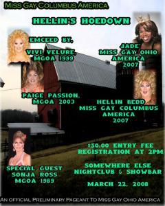 Miss Gay Columbus America | SomeWhere Else Nightclub & Showbar (Columbus, Ohio) | 3/22/2008