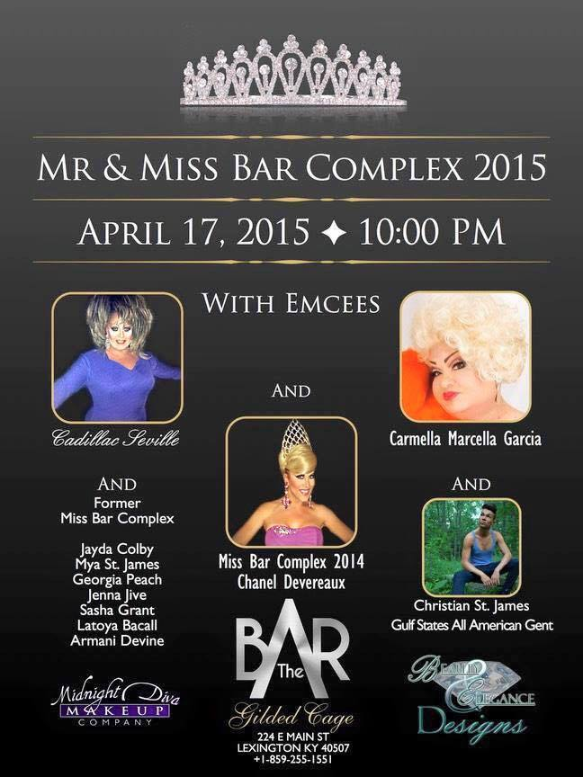 Show Ad | The Bar Complex (Lexington, Kentucky) | 4/17/2015