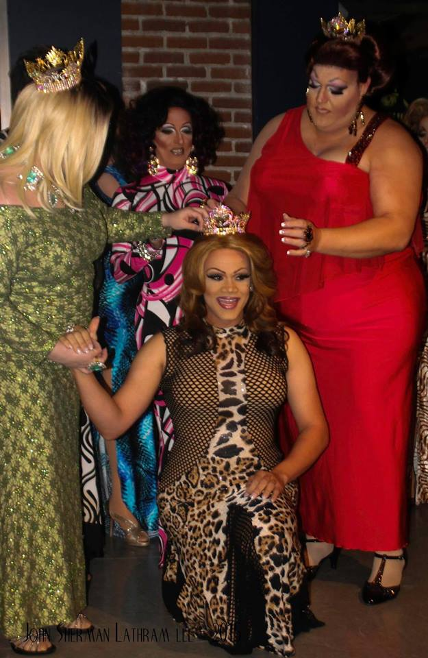 Kiley Dash-West being crowned Miss Gay Columbus America 2015