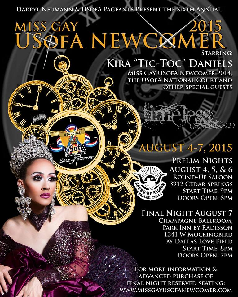 Show Ad | Miss Gay USofA Newcomer | Dallas, Texas | 8/4-8/7/2015