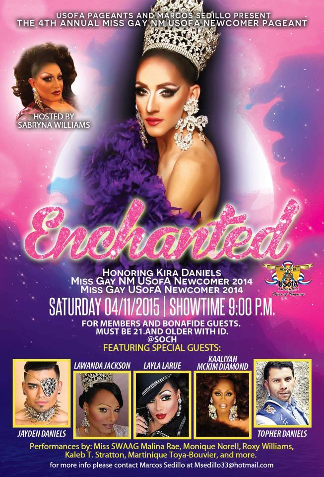 Show Ad | Miss Gay New Mexico USofA Newcomer | 4/11/2015
