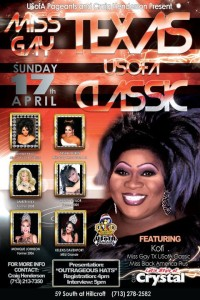 Show Ad | Miss Gay Texas USofA Classic | Crystal (Houston, Texas) | 4/17/2011