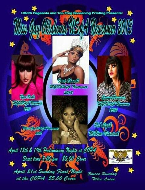 Show Ad | Miss Gay Oklahoma USofA Newcomer | Copa (Oklahoma City, Oklahoma) | 4/18-4/21/2013