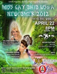 Show Ad | Miss Gay Ohio USofA Newcomer | Axis Nightclub (Columbus, Ohio) | 4/22/2012