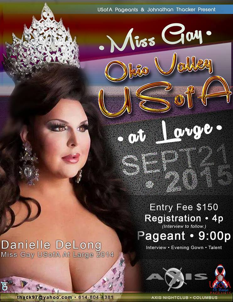Show Ad | Miss Gay Ohio Valley USofA at Large | Axis Night Club (Columbus, Ohio) | 9/21/2015