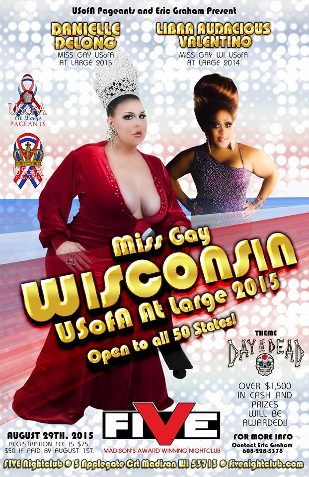 Show Ad | Miss Gay Wisconsin USofA at Large | Five (Madison, Wisconsin) | 8/29/2015