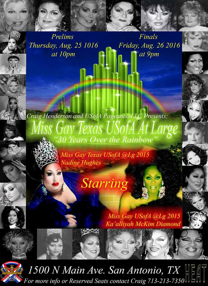 Show Ad | Miss Gay Texas USofA at Large | Heat (San Antonio, Texas) | 8/25-8/26/2016