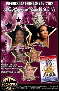 Show Ad   Miss Gay East Coast USofA   Scorpio (Charlotte, North Carolina)   2/15/2012
