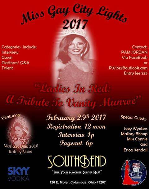 Show Ad   Miss Gay City Lights Ohio   Southbend Tavern (Columbus, Ohio)   2/25/2017