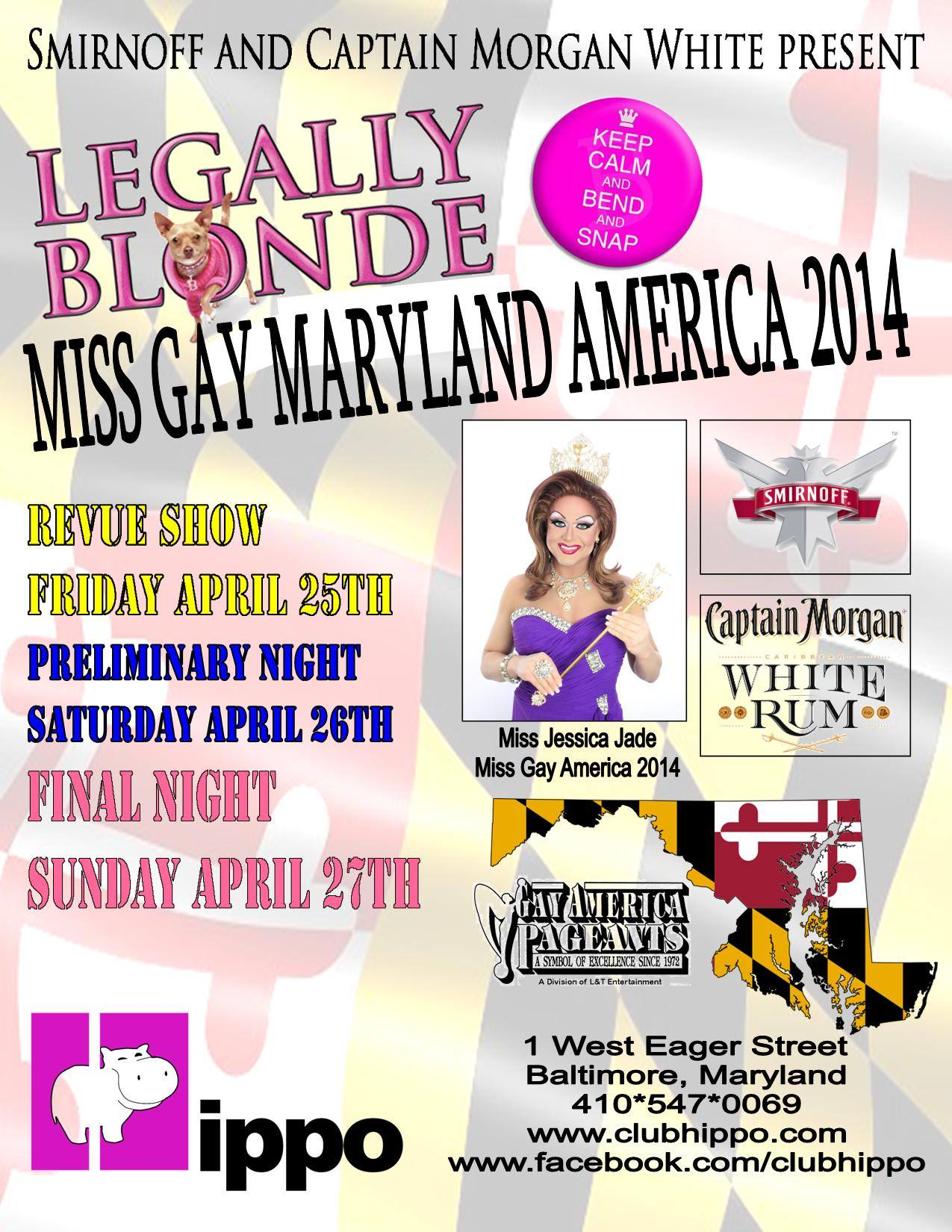 Show Ad | Miss Gay Maryland America | Club Hippo (Baltimore, Maryland) | 4/25-4/27/2014