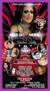 Show Ad | Miss Dream Girl Continental Plus | The Baton Show Lounge (Chicago, Illinois) | 10/12/2015