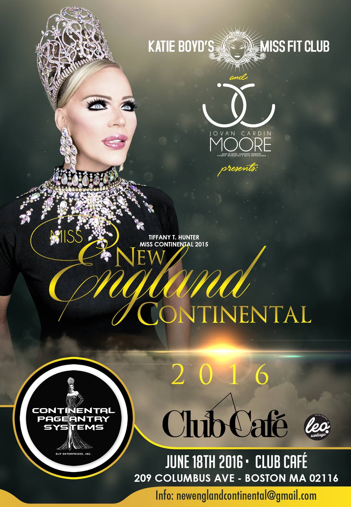 Show Ad | Miss New England Continental | Club Cafe (Boston, Massachusetts) | 6/18/2016