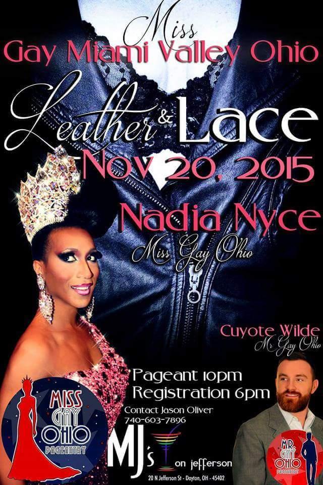 Show Ad | Miss Gay Miami Valley Ohio | MJ's on Jefferson (Dayton, Ohio) | 11/20/2015
