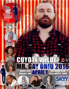 Show Ad | Mr. Gay Ohio | Axis Night Club (Columbus, Ohio) | 4/1/2016