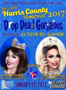 Show Ad | Miss Gay Harris County Ameria | Neon Boots (Houston, Texas) | 1/22/2017