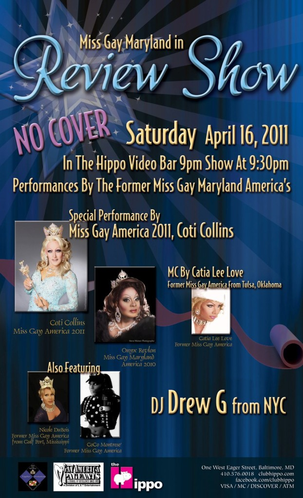 Show Ad | Miss Gay Maryland America | Club Hippo (Baltimore, Maryland) | 4/16/2011