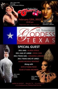 Show Ad | Texas All American Goddess | Randy's Club Cherries (Dallas, Texas) | 2/12/2012