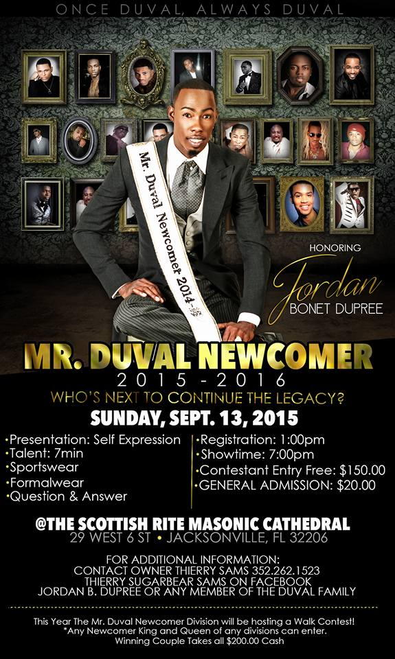 Show Ad | Mr. Duval Newcomer | The Scottish Rite Masonic Cathedral (Jacksonville, Florida) | 9/13/2015