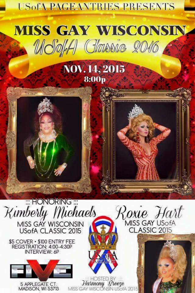 Show Ad | Miss Gay Wisconsin USofA Classic | Five Nightclub (Madison, Wisconsin) | 11/14/2015