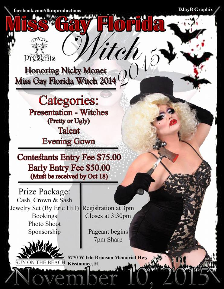 Show Ad | Miss Gay Florida Witch | Sun on the Beach (Kissimmee, Florida) | 11/10/2015