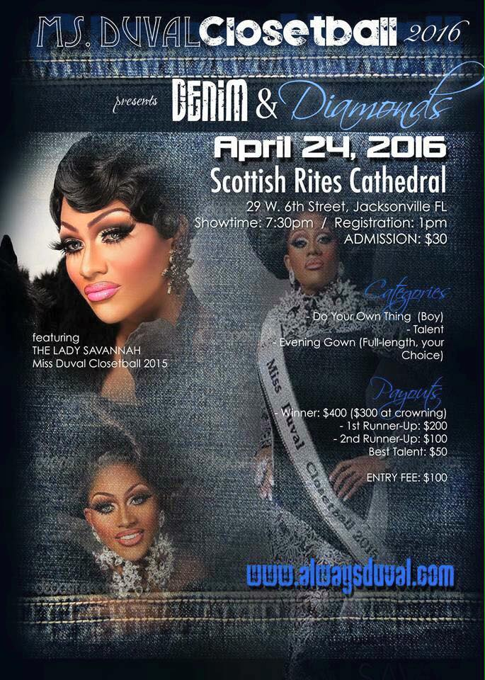 Show Ad | Miss Duval Closetball | Scottish Rites Cathedral (Jacksonville, Florida) | 4/24/2016