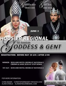 Show Ad | Hoosier Regional All American Goddess and Gent | Indianapolis, Indiana | 6/5/2016