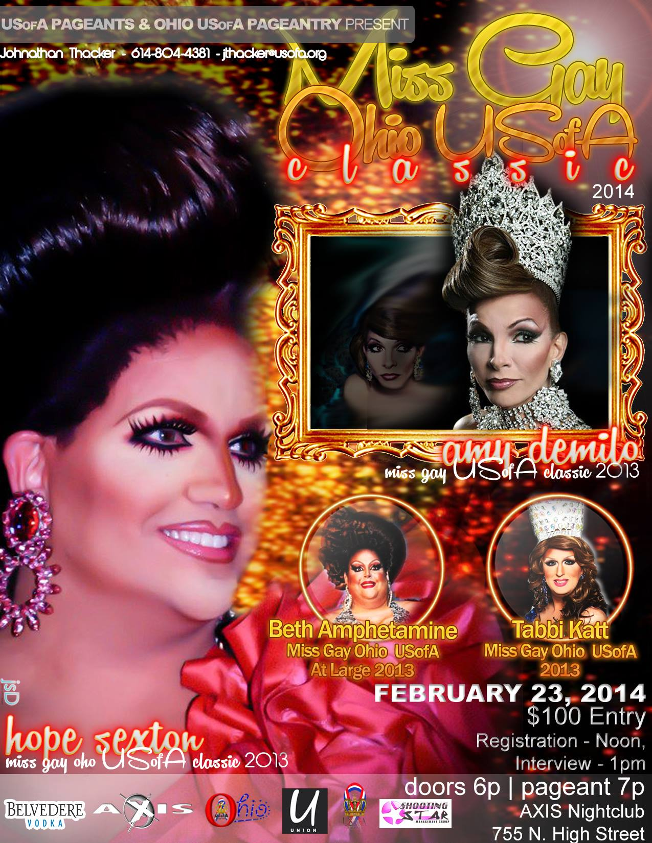 Show Ad | Miss Gay Ohio USofA Classic | Axis Night Club (Columbus, Ohio) | 2/23/2014
