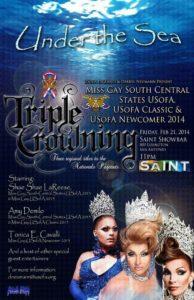 Show Ad | Miss Gay South Central States USofA, USofA Classic and USofA Newcomer | Saint (San Antonio, Texas) | 2/21/2014