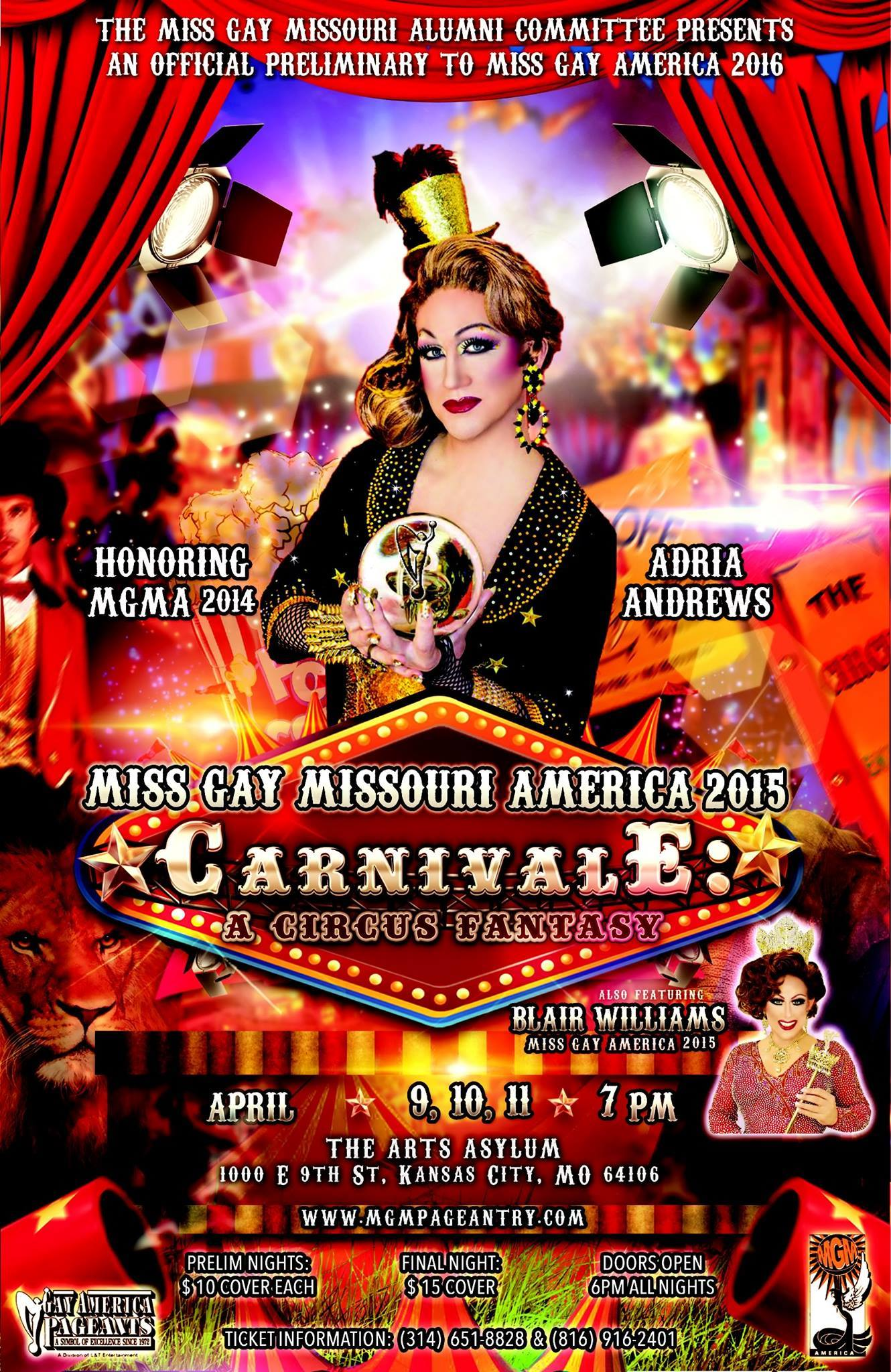 Show Ad | Miss Gay Missouri America | The Arts Asylum (Kansas City, Missouri) | 4/9-4/11/2015