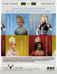 Show Ad | Miss Gay Maryland USofA and Classic | The Lodge (Boonsboro, Maryland) | 10/16/2015