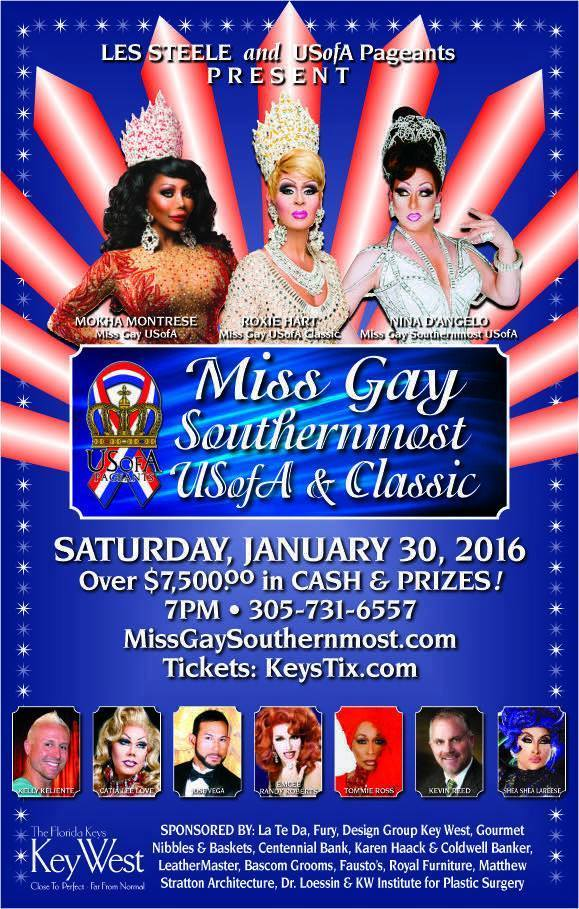 Show Ad   Miss Gay Southernmost USofA and Classic   San Carlos Institute (Key West, Florida)   1/30/2016