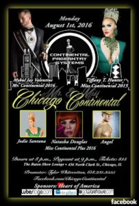 Show Ad | Mr. and Miss Chicago Continental | The Baton Show Lounge (Chicago, Illinois) | 8/1/2016