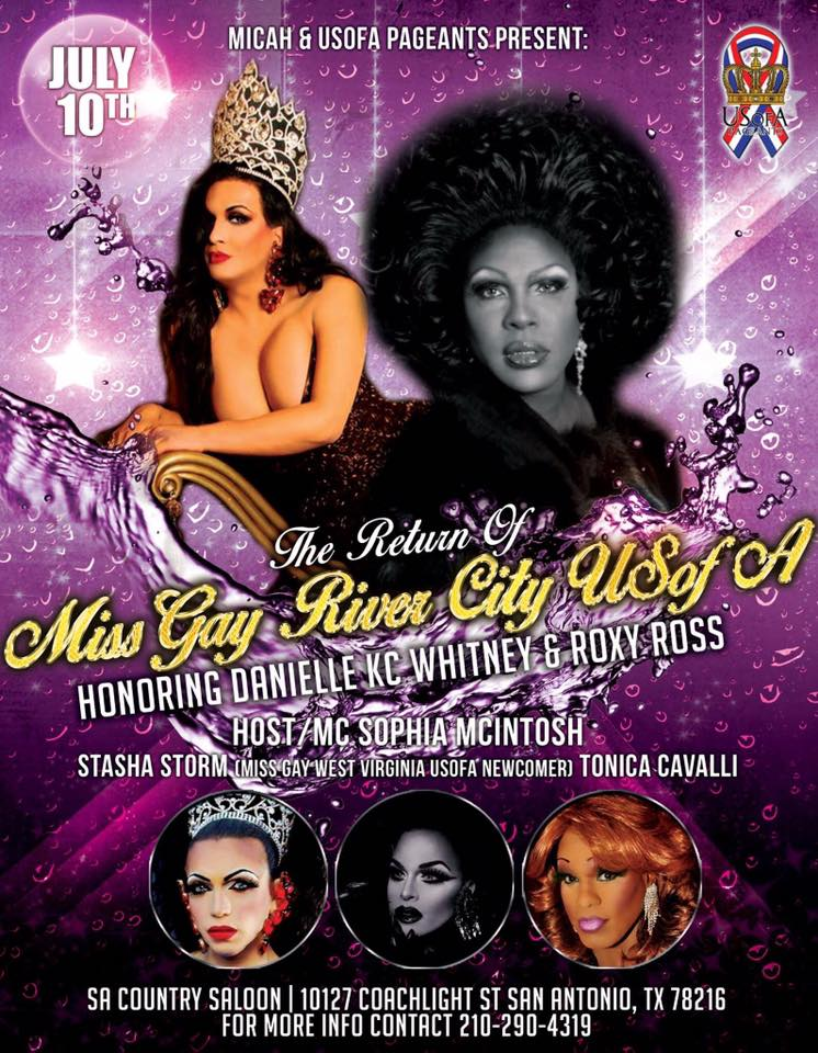 Show Ad | Miss Gay River City USofA | SA Country Saloon (San Antonio, Texas) | 7/10/2016