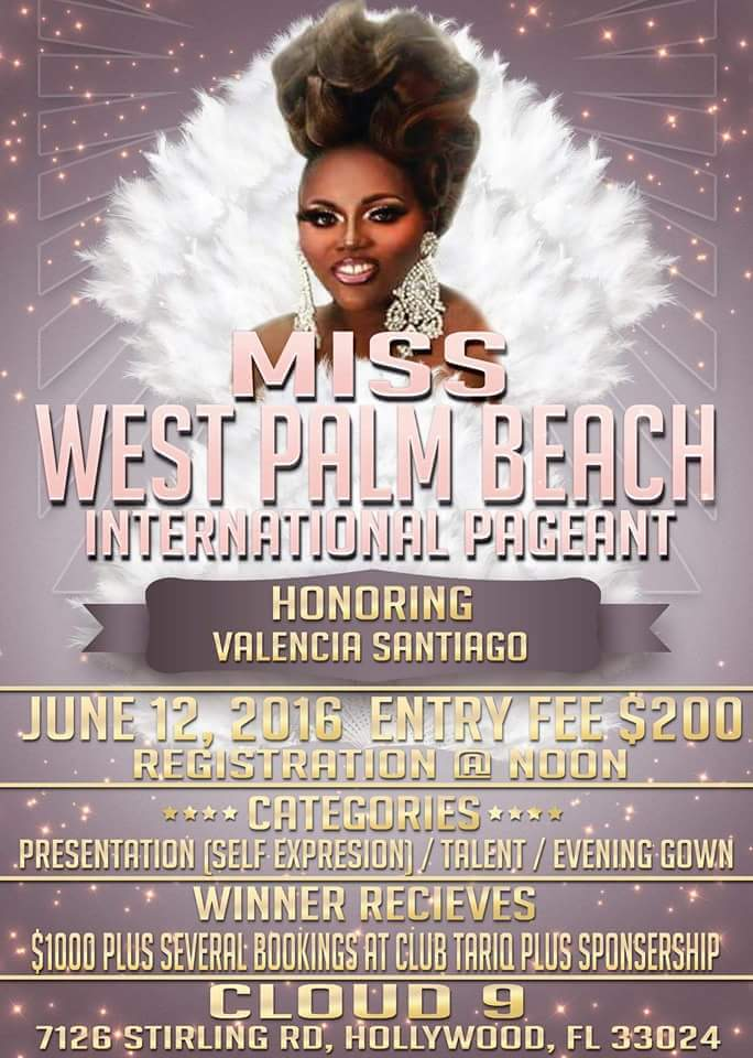 Show Ad | Miss West Palm Beach International | Cloud 9 (Hollywood, Florida) | 6/12/2016