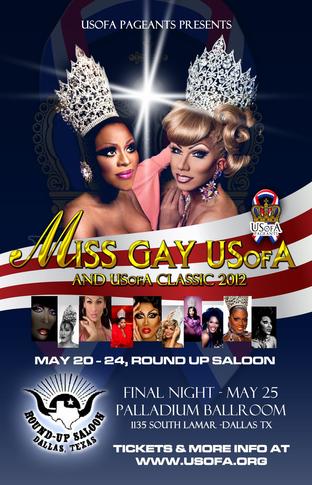 Show Ad | Miss Gay USofA and Miss Gay USofA Classic | Round Up Saloon (Dallas, Texas) | 5/20-5/25/2012