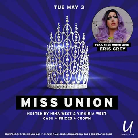 Show Ad | Miss Union | Union Cafe (Columbus, Ohio) | 5/3/2016