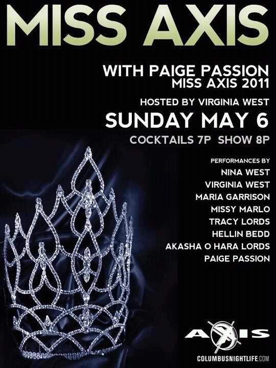 Show Ad | Miss Axis | Axis Night Club (Columbus, Ohio) | 5/6/2012