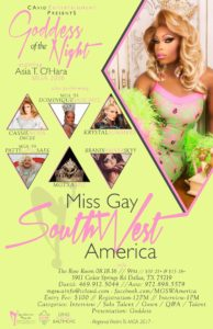 Show Ad   Miss Gay Southwest America   The Rose Room (Dallas, Texas)   8/18/2016