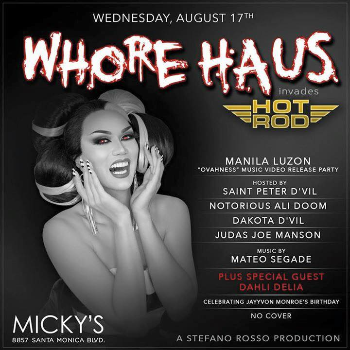 Show Ad | Micky's (West Hollywood, California) | 8/17/2016