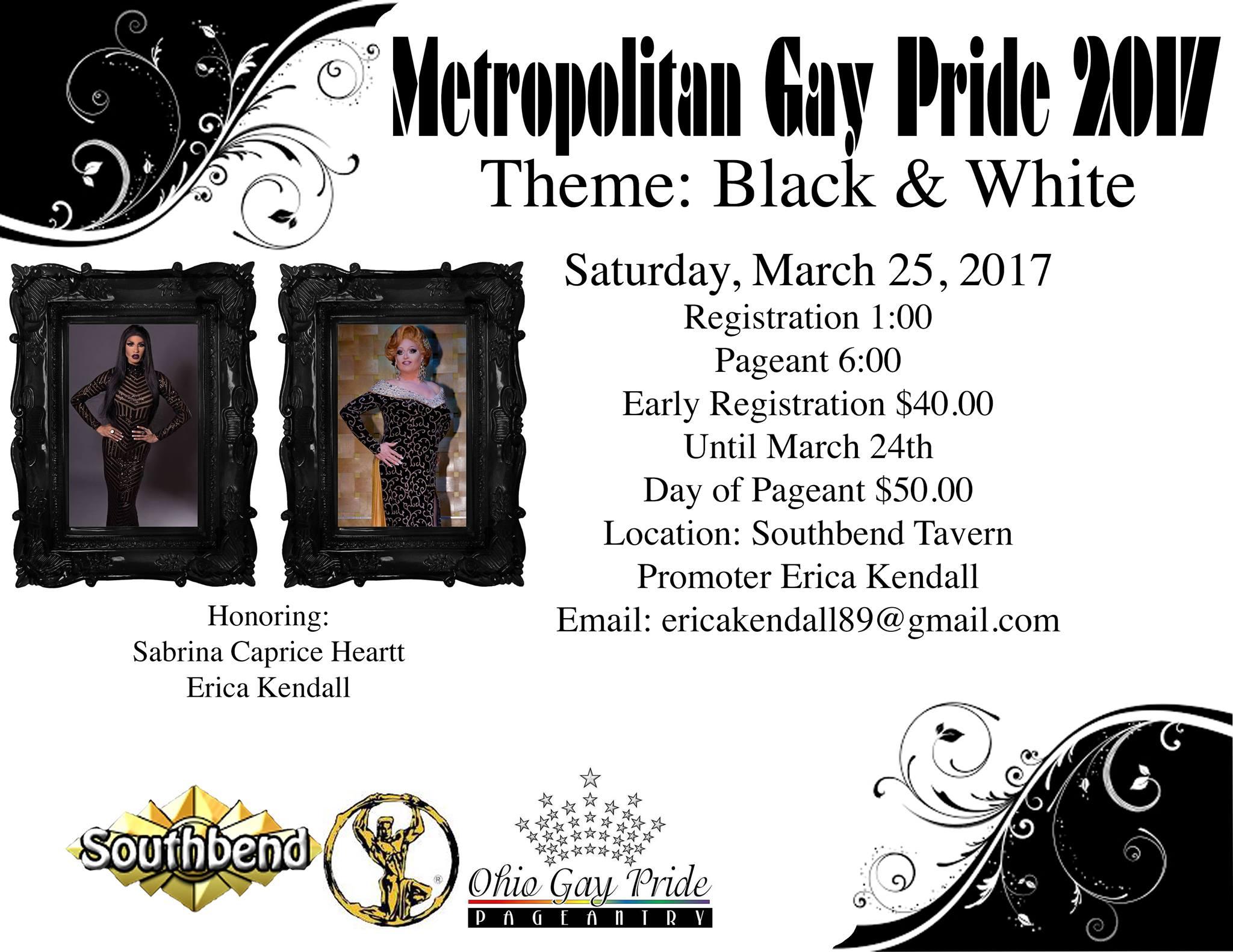 Show Ad | Metropolitan Gay Pride | Southbend Tavern (Columbus, Ohio) | 3/25/2017