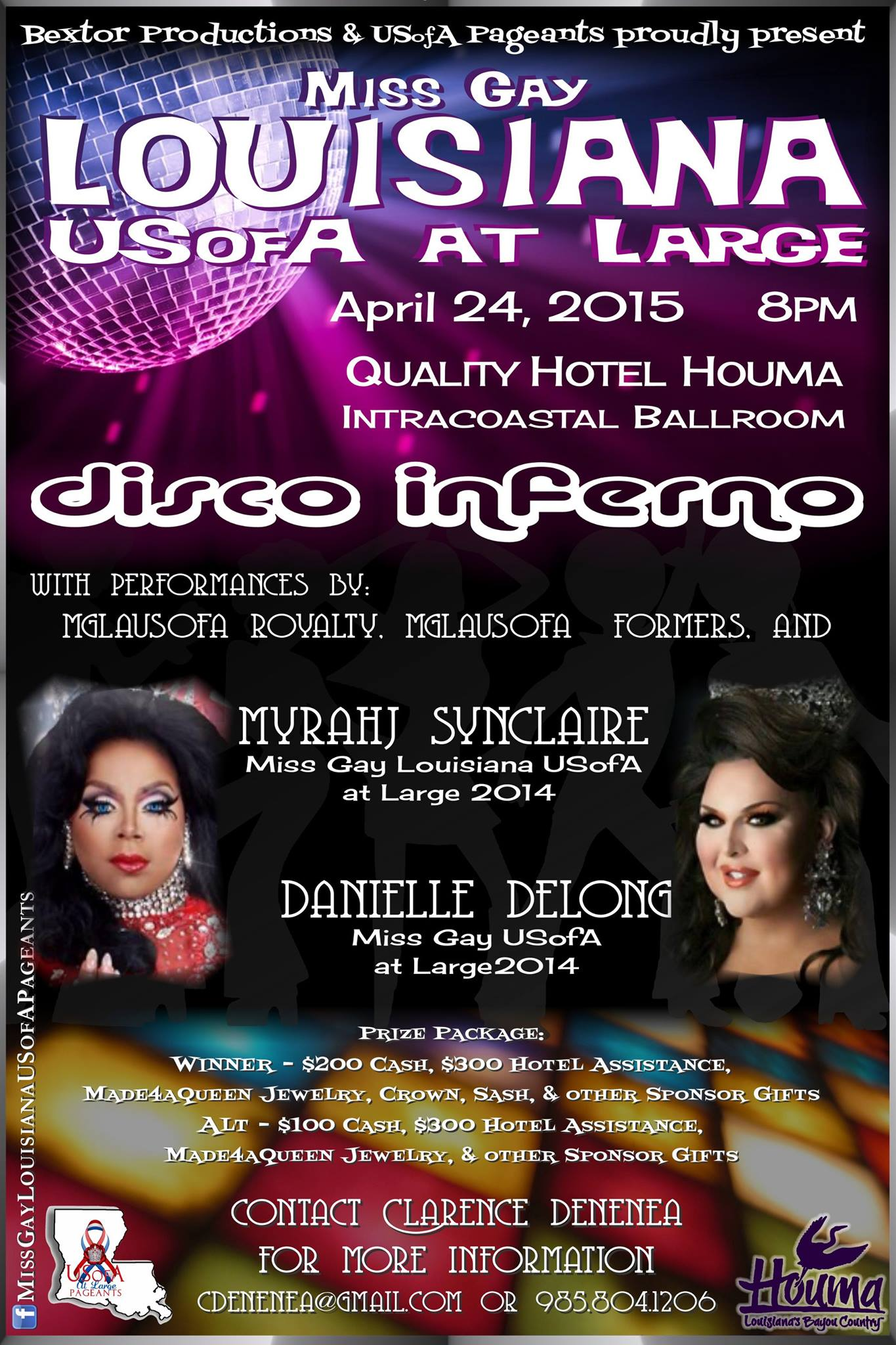 Show Ad | Miss Gay Louisiana at Large | Quality Hotel (Houma, Louisiana) | 4/24/2015